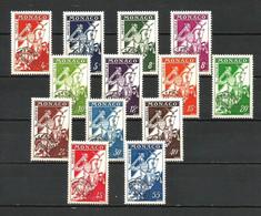 MONACO PREOBLITERES N° 11/18 De 1954/59 Neufs** Sans Charnière Sans Trace. Cote 45€ - Precancels