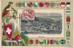 CPA - 21496- Suisse-Ste Croix -Carte Gaufrée -Envoi Gratuit - VD Waadt