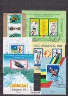 Lot – Sport Football, Olympic Games (1982;1983;1984.) 6 S/S-used (O) Bulgaria/Bulgarie - Blocks & Sheetlets