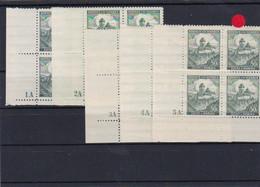 Böhmen & Mähren (B&M)  **, Postfrisch, MiNr. 26 Viererblock Eckrand - Occupation 1938-45