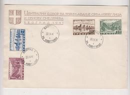 GERMANY WW II SERBIA 1941 Nice Cover - Occupation 1938-45