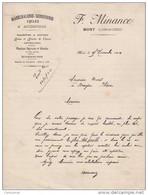41 MONT Près CHAMBORD Canton De BRACIEUX COURRIER MARECHALERIE SERRURERIE  CYCLES  F. MINANCE 1924 - V15 Loir Et Cher - 1900 – 1949