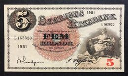 Svezia Sveriges 5 Kronor 1951  LOTTO 565 - Schweden