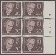 !a! BERLIN 1961 Mi. 198 MNH Vert.BLOCK(6) W/ Right Margins & Num (89303) -Louise Schroeder - Ongebruikt