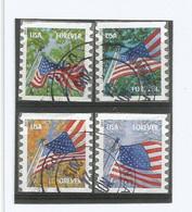 USA 2013 Flag & Saesons Coil P.8.5 - Cpl 4v Set In VFU Condition Scott # 4766/69 - Usados