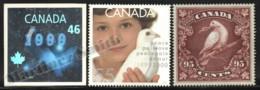 Canada 1999 Yvert 1702-04, New Millennium Official Souvenir - 1702 Adhesive Hologram - MNH - Nuevos