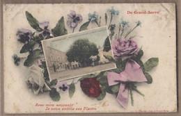 CPA 26 - GRAND-SERRE - De Grand-Serre , Avec Mon Souvenir , Je Vous Envoie Ces Fleurs CP Au Milieu Place Hôtel De Ville - Autres Communes