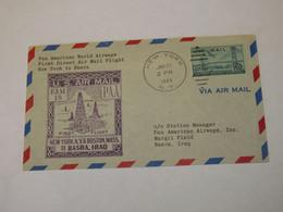 USA First Flight Cover To Iraq New York - Basra 1949 - Sin Clasificación