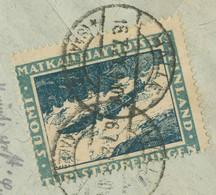 "FINLAND 1921 Cover W CDS ""KUUSANKOSKI"" CINDERELLA STAMPED In GERMANY RRR!!! - Cartas"