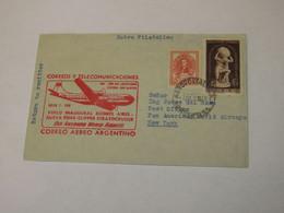 Argentina First Flight Cover To USA Buenos Aires -  New York 1950 - Sin Clasificación