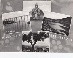 GHILARZA-ORISTANO-SALUTI DA...-4 VEDUTINE-CARTOLINA VERA FOTOGRAFIA VIAGGIATA IL 30-9-1954 - Oristano