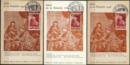 NB - [302307]TB//**/Mnh-France 1946 - N° 753, 2F+3F Pour Le Musée Postal, CP 1er Jour Pour Le Salon De La Philatélie 194 - ....-1949