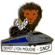 TGV ATLANTIQUE - A50 - DEPOT LYON MOUCHE - Verso : BALLARD - TGV