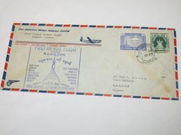 USA First Flight Cover To United Kingdom Rangoon - London 1953 - Sin Clasificación