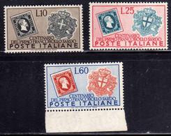 ITALIA REPUBBLICA ITALY REPUBLIC 1951 SARDO CENTENARIO FRANCOBOLLI DI SARDEGNA SERIE COMPLETA FULL SET MNH BEN CENTRATA - 1946-60: Mint/hinged