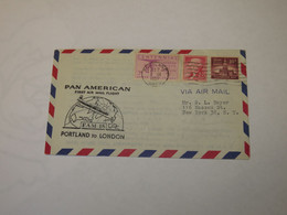 USA First Flight Cover To United Kingdom Portland - London  1957 - Sin Clasificación