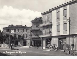 SAVIGNANO DI VIGNOLA-FORMICA-MODENA.-INSEGNA=SALI E TABACCHI=-CARTOLINA VERA FOTOGRAFIA-NON VIAGGIATA-1955-1960 - Modena