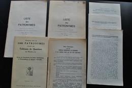 L'INTERMEDIAIRE DES GENEALOGISTES Généalogie Héraldique Histoire Divers Documents Listes Alphabétiques Et Patronymes - Storia
