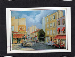 """99838    Francia,  Paris,  Rue  De La Butte Aux  Cailles,  """"Villa Laurencia"""",  Claude  Gentet,     NV(scritta) - Paintings"""