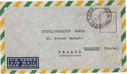 1953 / Enveloppe Avion / EMA Oblitération Mécanique De Tesoura Brasil / Brésil / Exp Souvageol à Rio De Janeiro - Aéreo