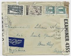 MAROC 4FR50+3FR+50C LETTRE AVION MEKNES 7.12.1943 TO ENGLAND CENSURE OUVERT YE ET BRITISIH - Briefe U. Dokumente