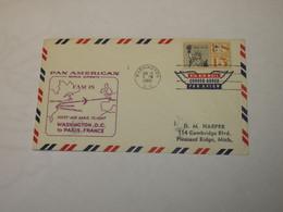 USA First Flight Cover To France  Washington - Paris 1960 - Sin Clasificación
