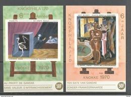 E 113/114 MAGRITTE EN DE SMET  BLOKKEN   POSTFRIS** 1970 - Commemorative Labels