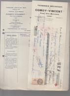 Pont Ste  Maxence (60 Oise)  Facture + Traite 1934 COMOY-VINCENT Tournerie Mécanique  (PPP27119) - 1900 – 1949