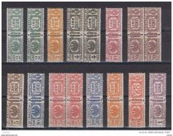 REGNO:  1927/32  PACCHI  POSTALI  FASCI  -  S. CPL. 12  VAL. + 4 RIPETUTI  N.+L.. -  SASS. 24/35 - Paketmarken