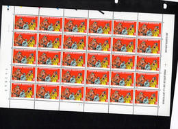 BELGIQUE BELGIE  2619 XX MNH Feuille Complete  SAMMY BD COMICS 30 TIMBRES ZEGELS - Hojas Completas