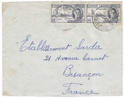 1946 / Enveloppe Gold Coast / Ghana / Cachet AKUS / Illustration Palmier, éléphant - Goldküste (...-1957)