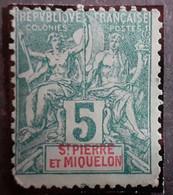 Timbres > Amérique > St.Pierre Et Miquelon > 1859-1909 >  Neufs N° 62* - Neufs