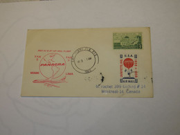 USA First Flight Cover To  Peru Miami - Lima 1960 - Sin Clasificación