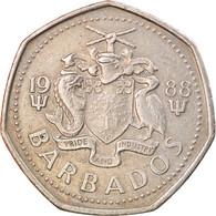 Monnaie, Barbados, Dollar, 1988, Franklin Mint, TTB, Copper-nickel, KM:14.2 - Barbados