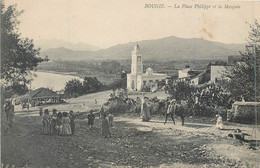 CPA Afrique > Algérie > Villes > Bejaia (Bougie) La Place Philippe Et La Mosquée - Bejaia (Bougie)