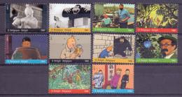 Belgie - 2011 - OBP - ** 4165/74 -  Blok 192 - Kuifje Op Het Scherm ** - Nuevos
