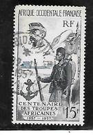 TIMBRE OBLITERE D'AFRIQUE OCCIDENTALE DE 1957 N°MICHEL 84 - Oblitérés