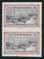 ERREUR / CURIOSITÉ / VARIÉTÉ – ERROR / CURIOSITY / VARIETY : 5 C (Yv. 320 - 1958) : PAIR IMPERFORATE HORIZONALLY (ag671) - Panamá