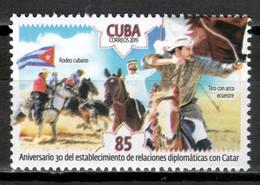 Cuba 2019 / Diplomatic Relations Qatar Horses MNH Relaciones Diplomáticas Catar Caballos Pferde / Cu17709  C3-14 - Nuovi