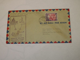 Bermuda First Flight Cover To USA Hamilton - New York  1947 - Bermudas