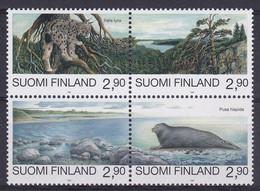 FI260 – FINLANDE – FINLAND – 1995 – NATURE CONSERVATION – SG 1387/90 MNH 9,75 € - Nuevos