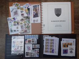 SLOVAKIA - Collection Of MNH Stamps On Lindner Sheets In Album In Very Good Condition. Alongside That Smaller Collection - Colecciones & Series