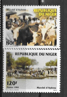 1984 - 651 à652 **MNH - Marché D'Ayerou - 2 - Níger (1960-...)
