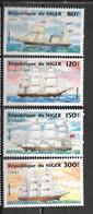 1984 - 640 à 643  **MNH - Bateaux - 2 - Níger (1960-...)