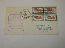 USA First Flight Cover To Italy Los Angeles - San Francisco - Paris - Milano 1957 - Sin Clasificación