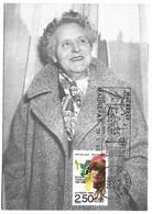Germaine Taillefer Musicienne Maurepas Yvelines Carte Maximum 1992 état Superbe - Donne Celebri