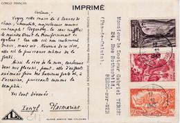 A.E.F. : Divers Sur Carte Ionyl . CaD De Pointe Noire .Eléphant - Lettres & Documents