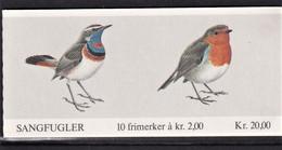NORVEGIA 1982 UCCELLI BOOKLET LIBRETTO UNIF. L816  KR.20,00 MNH PERFETTO - Libretti