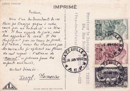 A.E.F. : Divers Sur Carte Ionyl . CaD De Brazzaville . Piroguier - Lettres & Documents