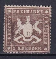 WÜRTTEMBERG - YT N° 16A PAPIER MINCE OBLITERE SIGNE CALVES  - COTE = 300 EUR. - - Wuerttemberg